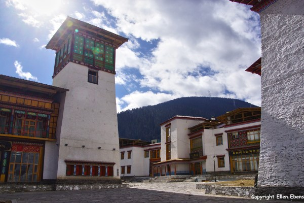 A little town in eastern Tibet, on google maps called Nage. It's a newly constructed town. Construction work is still going on. It's built in the local style.