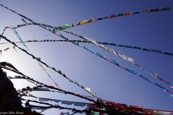 Prayer flags on the Hepo Ri hill some 400 meters east of Samye