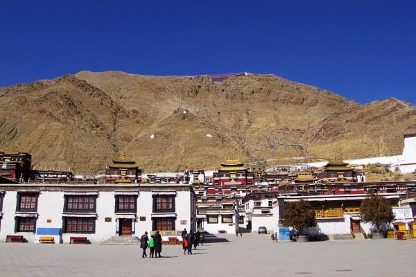 View on Tashilhunpo Monastery at the city of Shigatse