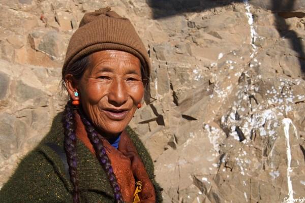 Pilgrim at Tashilhunpo Monastery, Shigatse