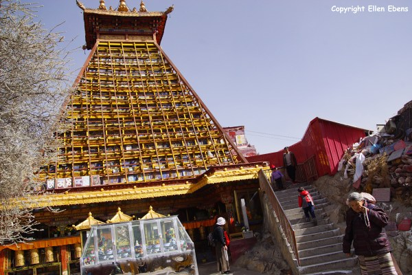 Lhasa, stupa at Chakpori Hill