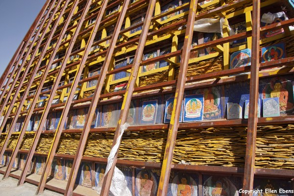 Lhasa, stupa at Chakpori Hill
