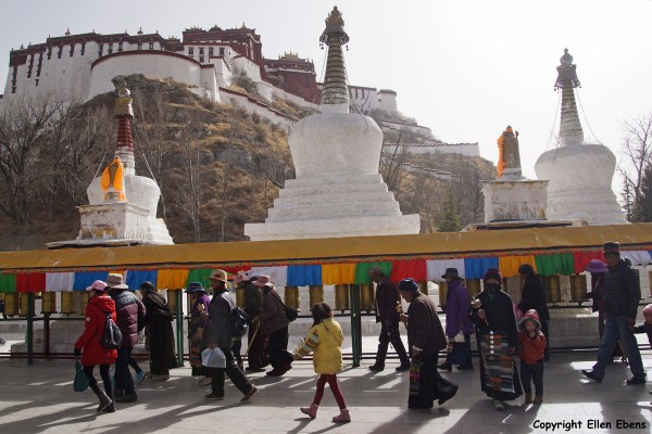 Lhasa, stupas behind the Potala Palace
