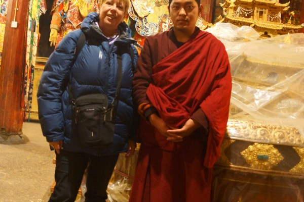 Me with the monk at Samye Monastery