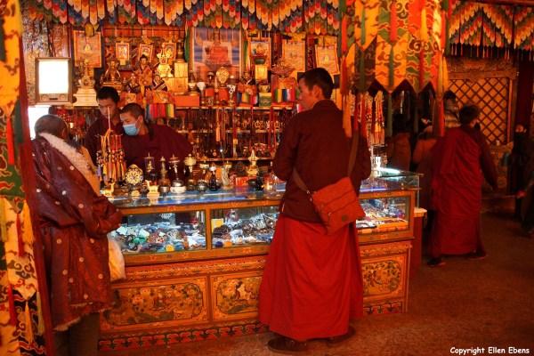 Selling everything for the pilgrim at Samye Monastery