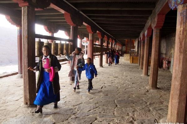 Pilgrims at Samye Monastery
