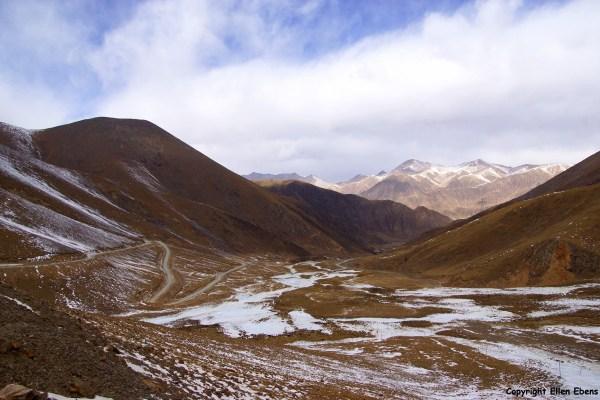 At the Chak La pass (4,850 meter)