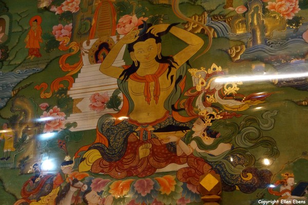 Wall painting inside Reting Monastery