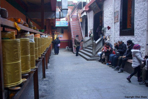 At one of the minor temples at Lhasa