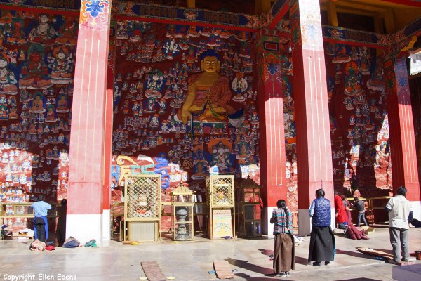 Chakpori Hill with paintings of all the Buddhas
