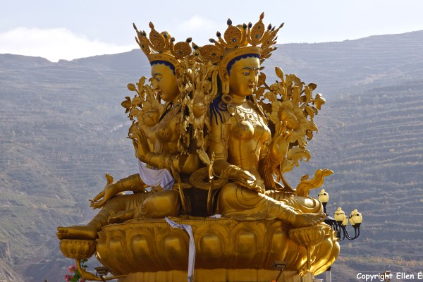 Rebkong Longwu Monastery Green Tara statue