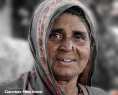Woman in a little village