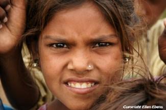 Semi-nomadic girl