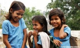 Girls in the holy city Omkareshwar