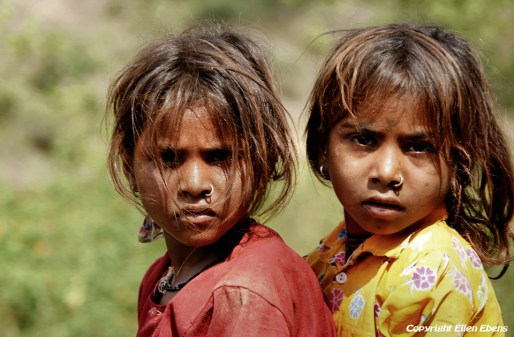 Semi-nomadic children from Rajasthan