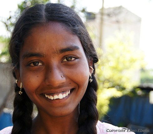 Young girl at the city of Bijapur