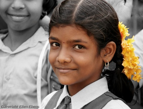 Schoolgirl at the village of Badami