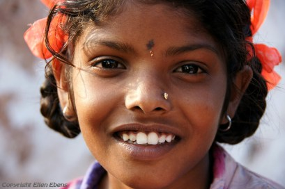 Girl at the village of Badami