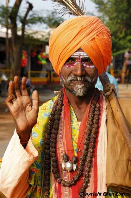 Sadhu in the town of Hampi