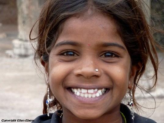Girl in the city of Mandu