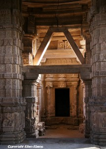 Inside the Hindu temple at Gwalior Fort, Gwalior