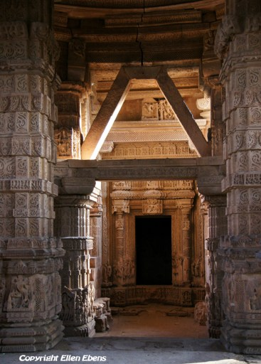 Inside the Hindu temple at Gwalior Fort, Gwalior