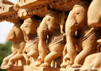 The temples of Khajuraho, mainly known for their erotic sculptures