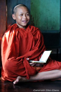 Young monk at the monastery behind the Chauk Htat Gyi Pagoda, Yangon