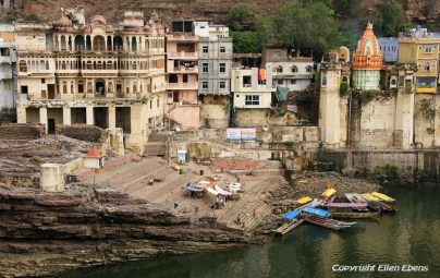 Ghats in the city of Omkareswar