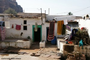 Houses in the little town of Badami