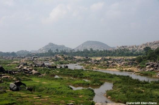 The beautiful landscape at Hampi