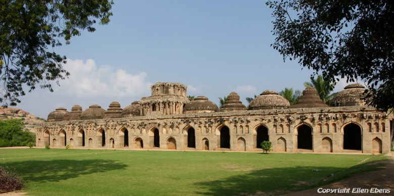 The elephant stables, Hampi
