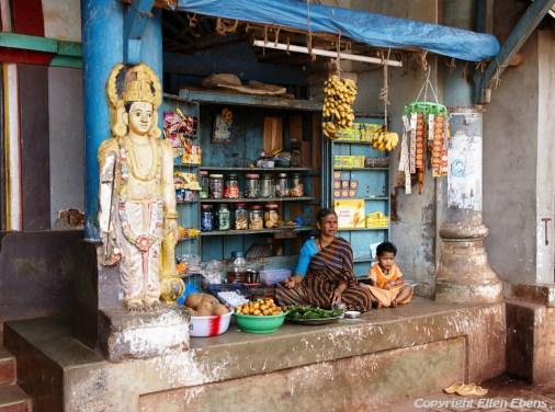 A little shop in the beach town Gokarna