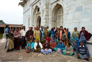 Posing in front of the thumb of Hoshang Shah in Mandu