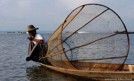A leg rowing fisherman on Inle Lake