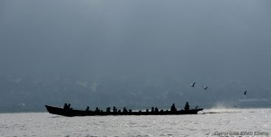 A boat on Inle Lake