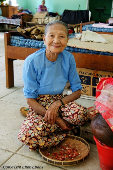 Mingun, female resident of the Daw Oo Zoon home for the elderly