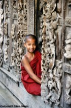 Mandalay, young monk at the Shwenadaw Kyaung Pagoda