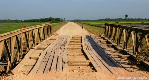 On the road from Pathein to Chauntha Beach, crossing an old bridge