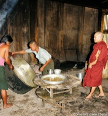 Bago, in the kitchen of the Kha Khat Wain Monastery