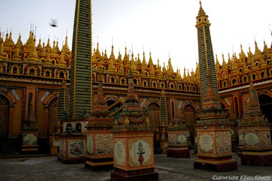 Near Monywa, the colorful Thanboddhay Temple
