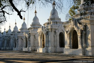Mandalay, small pagodas with the Tripitaka at the Kuthodaw Pagoda