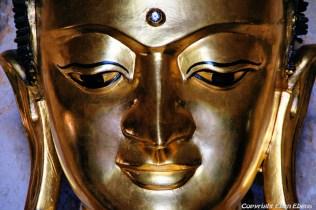 Bagan, Buddha statue at the Htilominio Temple