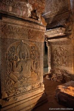 Bagan, stone carving at the Nanpaya Temple
