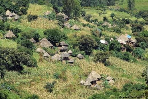 Ethiopia landscape village