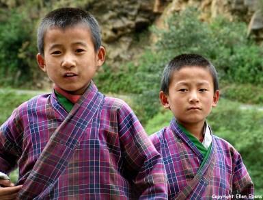 Bhutan portrait boys