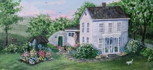 The Old Homestead 16 x 20 fine art painting by Ellen Leigh farm hous artwork