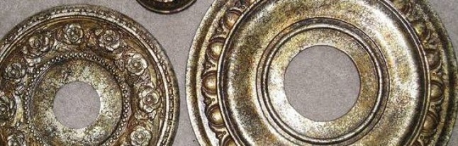 Ceiling medallions to match fixtures by Ellen Leigh