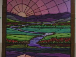 The 23rd Psalm stained glass murals by Ellen Leigh
