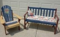 Cottage look deck furniture by Ellen Leigh